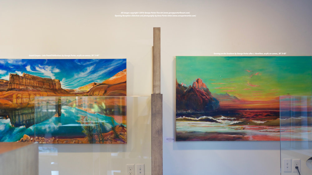 Paintings by George Porter on display at Cascade Sotheby's Lake Oswego Offices