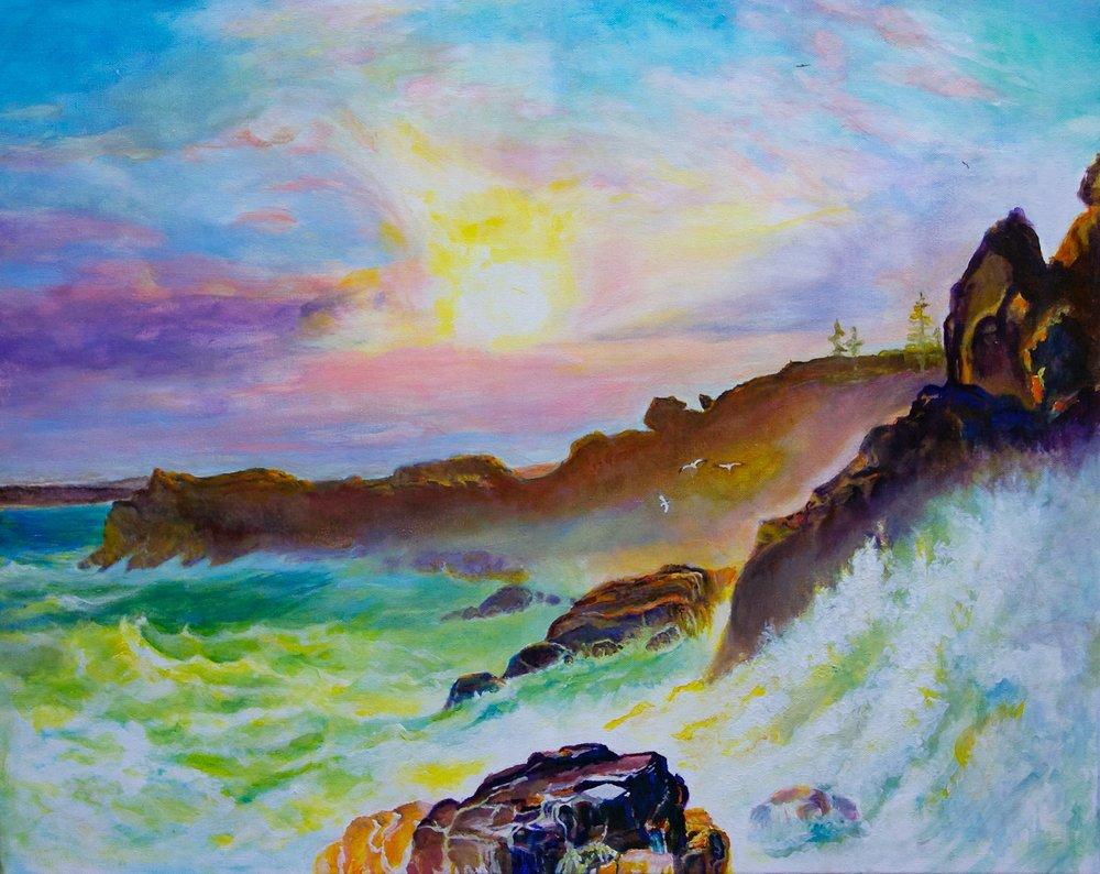 Coast Scene, Mount Desert, study by George Porter after Frederic Edwin Church