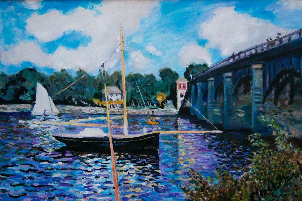 Bridge at Argentuille by George Porter after Claude Monet