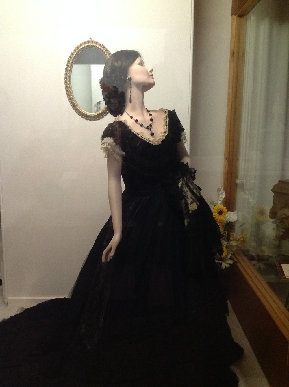 One of the beautiful mannequins at the Benella Costume Museum
