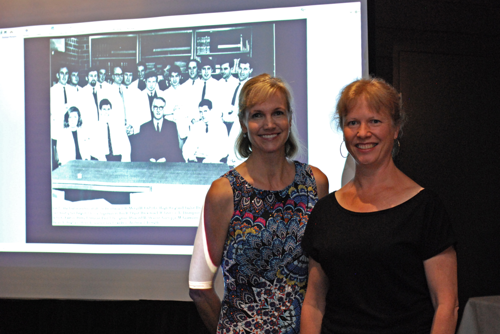 "Dr Belinda Welsh, Chair, Australasian College of Dermatologists Victorian Faculty and Emma Russell, Historian-in-Residence for the ""Who are we now?"" history project."
