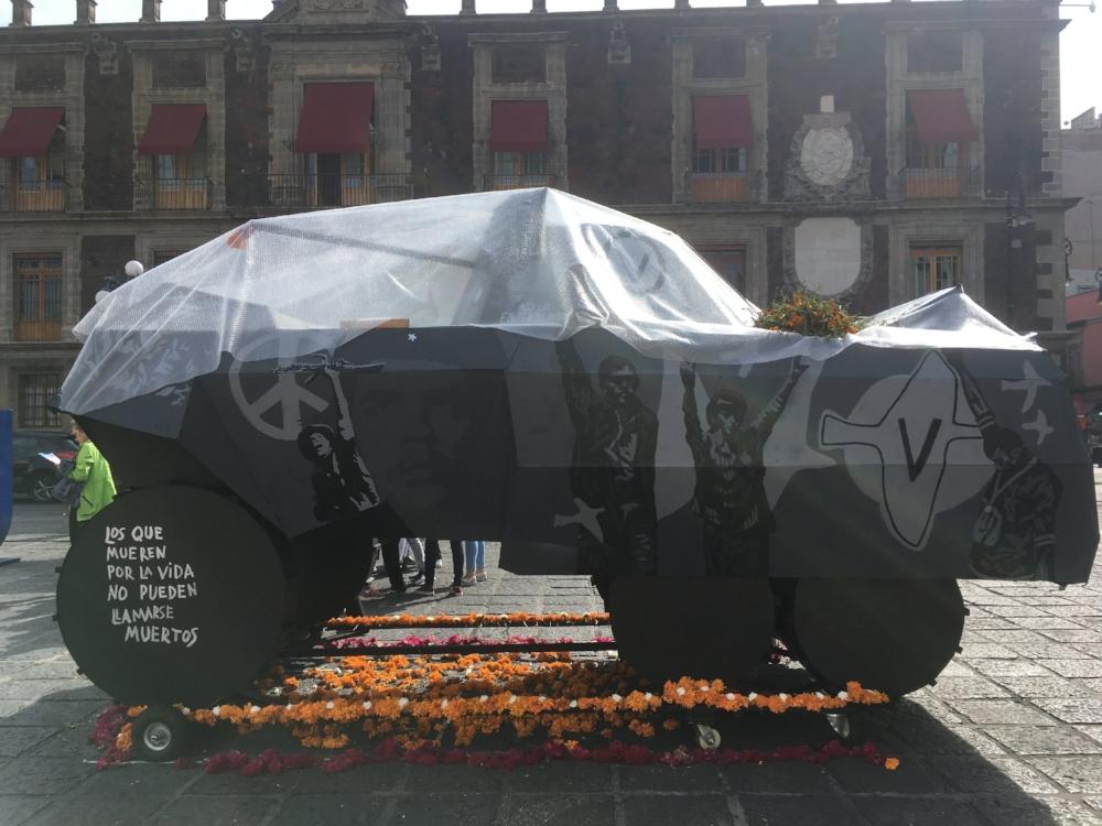An installation in Plaza Santo Domingo