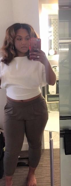 Top: Zara; Pants: Express