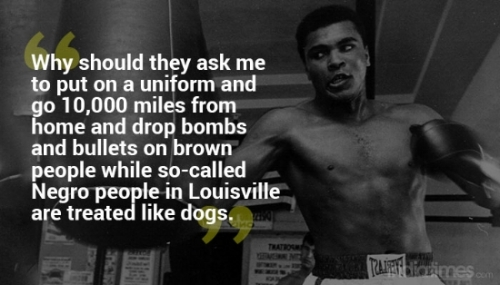 Ali & one of his many controversial statements
