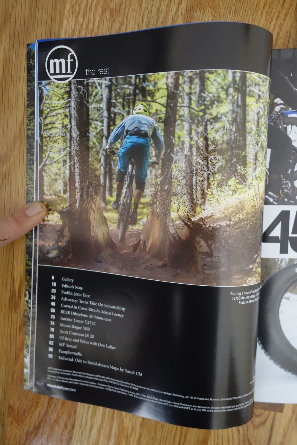 Editor Brian Reipe during the Big Mountain Enduro, Crested Butte.