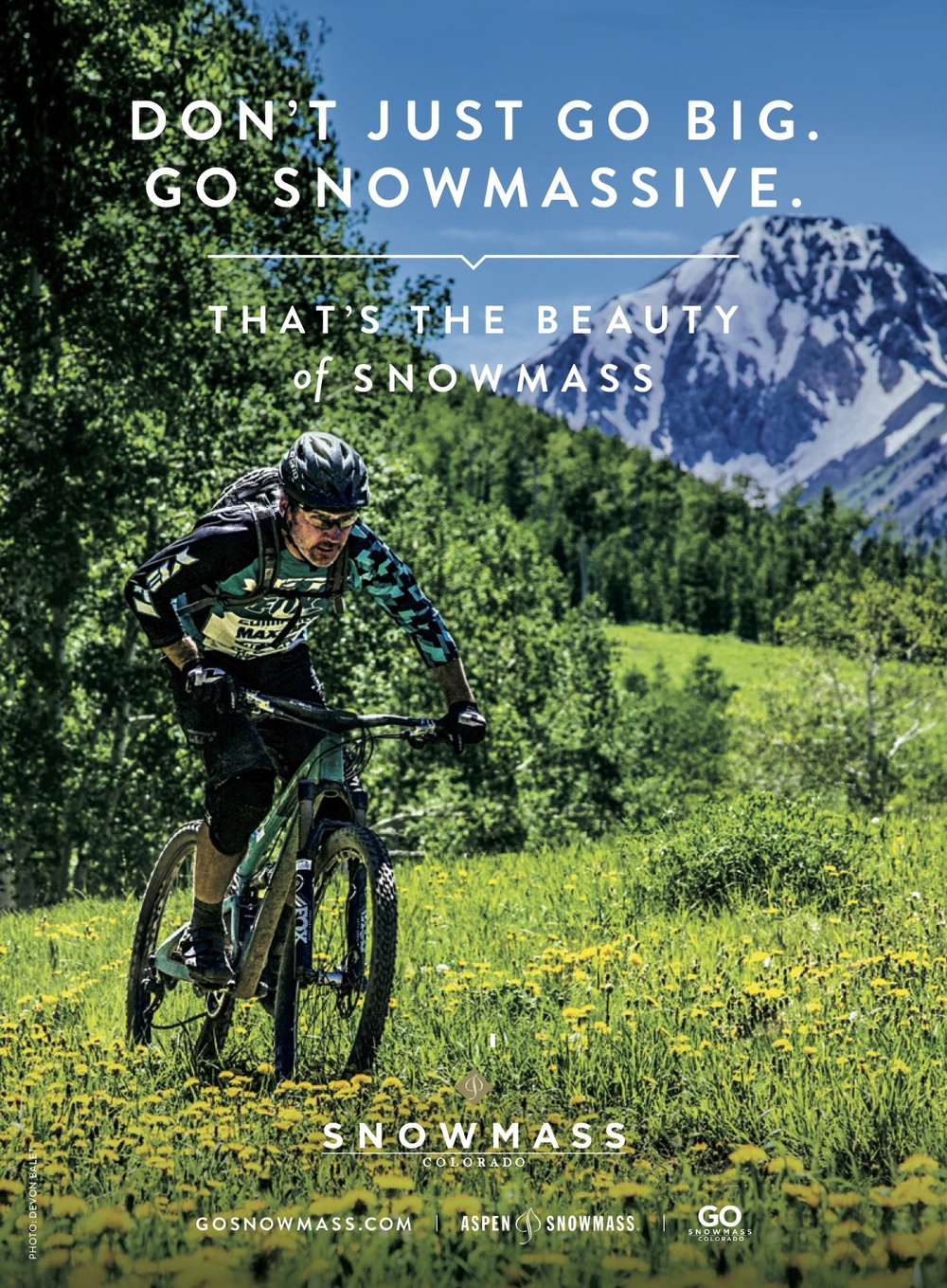 """Old Man West"" Mike West hammers through the flowers on Snowmass Mountain."