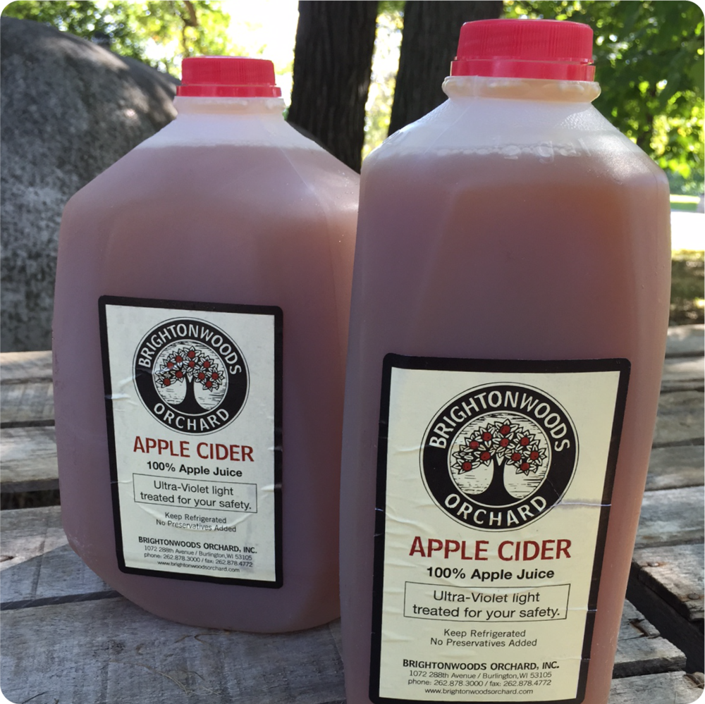 APPLE CIDER...Pick up some of our award winning cider! Our apple cider is made on our premises. We use a mix of fall favorites to create the perfect blend. Our cider is treated with Ultra-Violet light for your safety.
