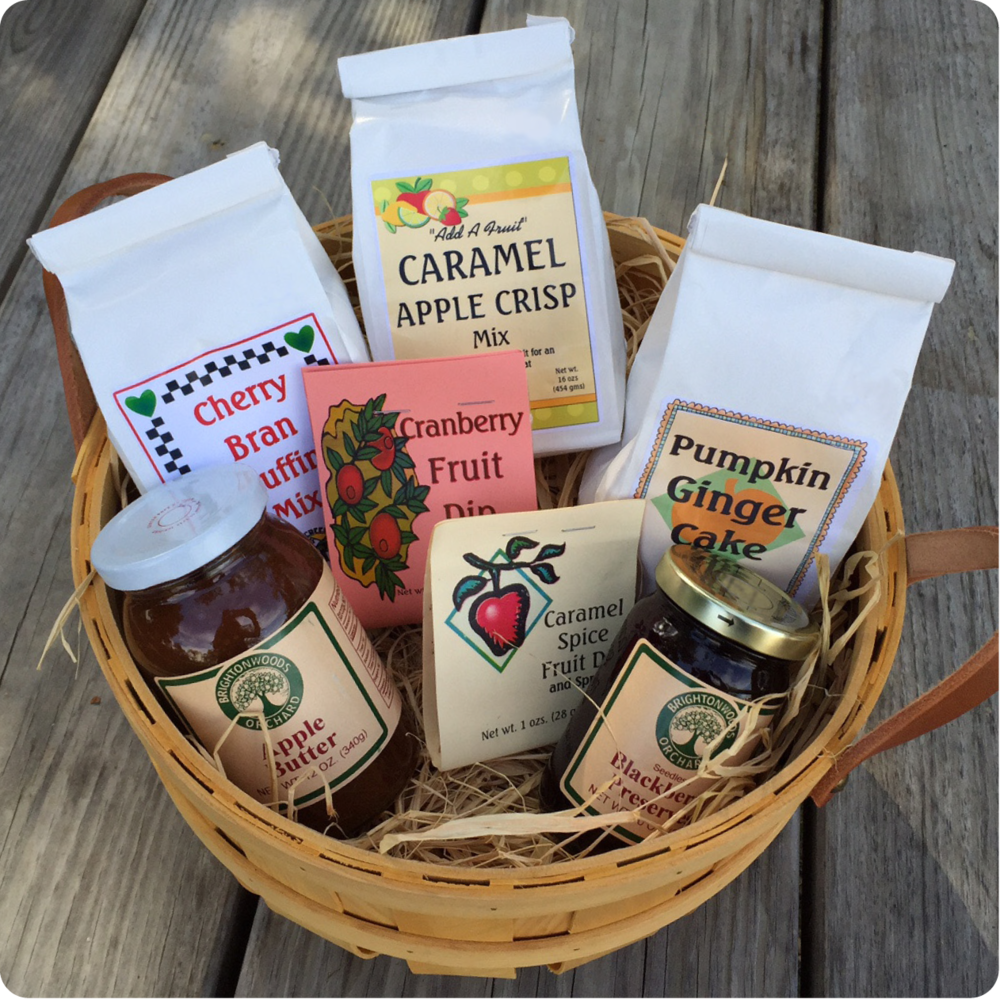 APPLE BUTTER, JAMS + MIXES...We carry many fall goodies including jams, apple crisp mix, pumpkin ginger cake mix, apple butter and fruit dips.