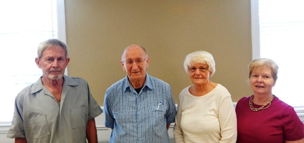 Left to Right: Paul Grossmann - President,  Bob Scoda - Treasurer, Helena Grossmann - Secretary, Linda Karmgard - Vice President