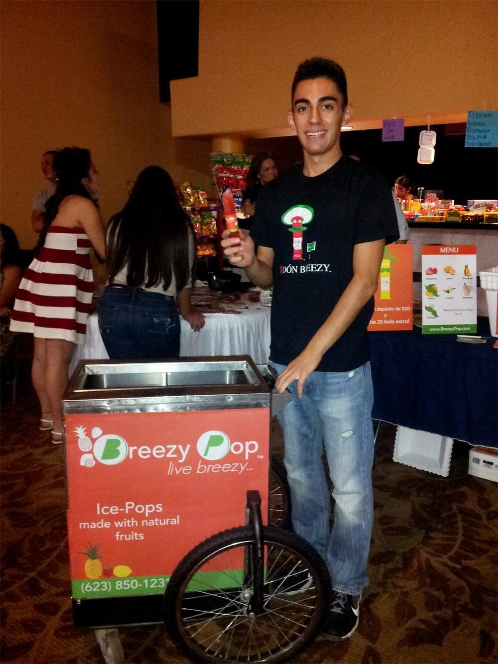 This was in 2014 when I bought our first Popsicle Cart!
