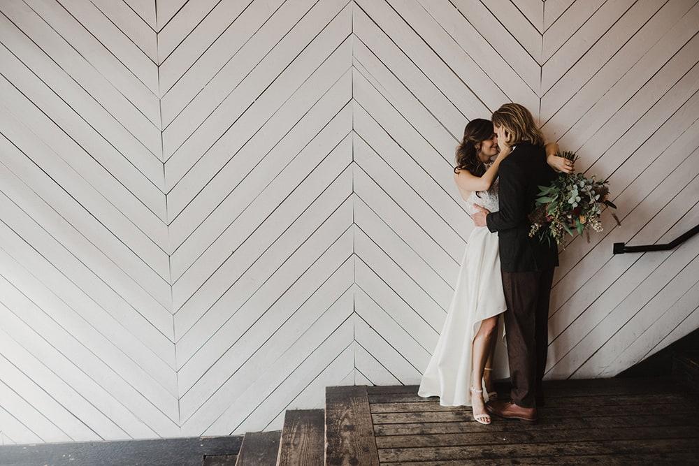 bride and groom before wedding ceremony