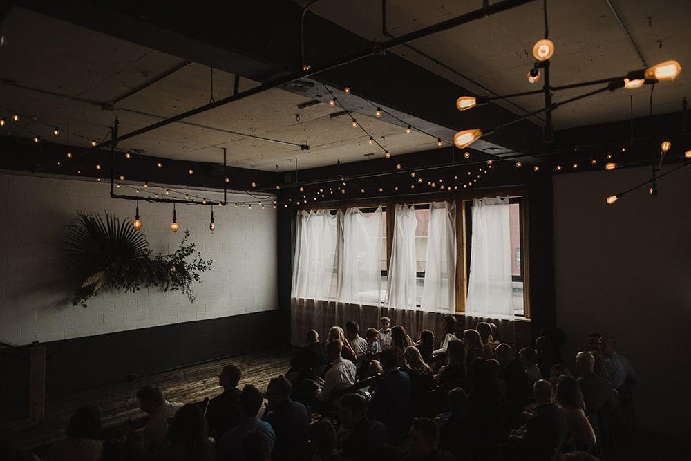 dim lit room at union pine with window light