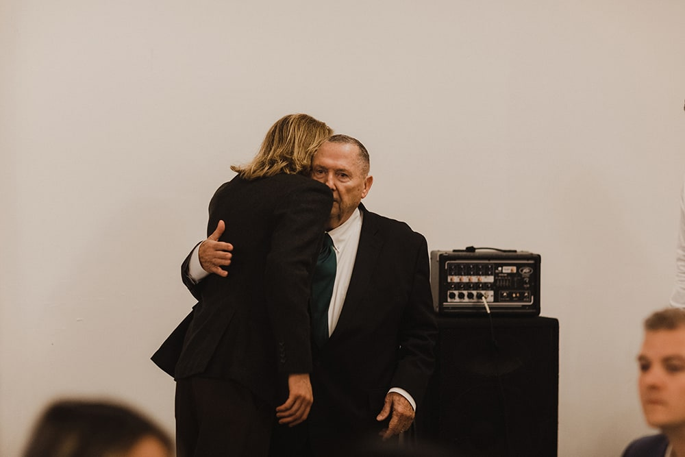 man hugging best friend