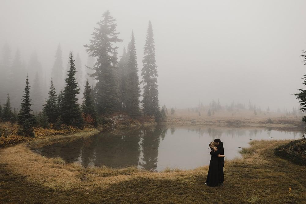 Tipsoo Lake Engagements near Mount Rainier by Alixann Loosle