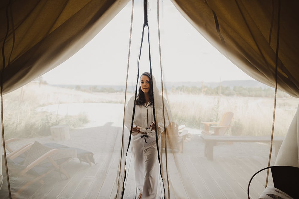 Conestoga Ranch Glamping Wedding by Alixann Loosle