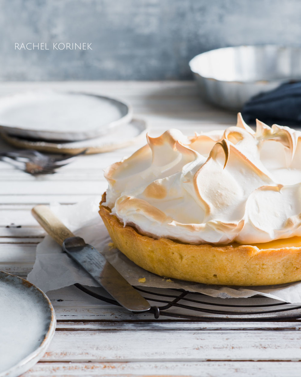 Rachel Korinek Melbourne Food Photographer, Lemon Meringue Pie