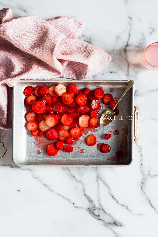 Rachel Korinek Melbourne Food Photographer Strawberry Syrup