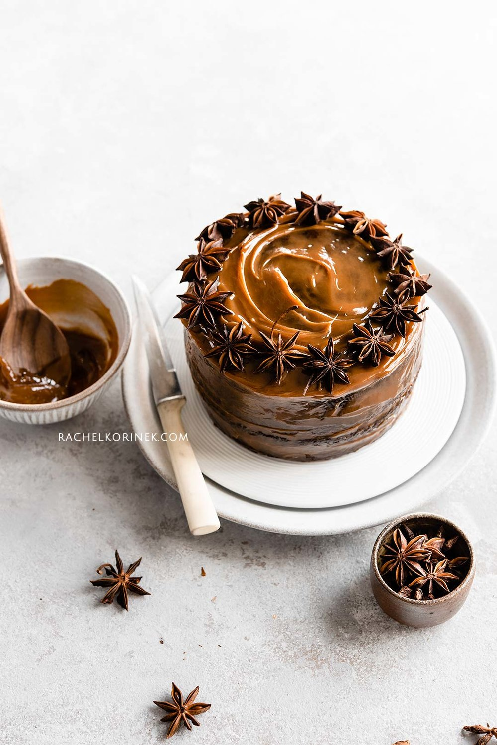 Rachel Korinek | Food Photographer Spiced Sticky Date Cake  Click to check out my latest food photography projects.  #twolovesstudio #beautifulcuisine #foodbloggerpro #foodphotography #learnfoodphotography #foodblogger #learnphotography #foodstyling #lightingtips #naturallight #foodphotographer