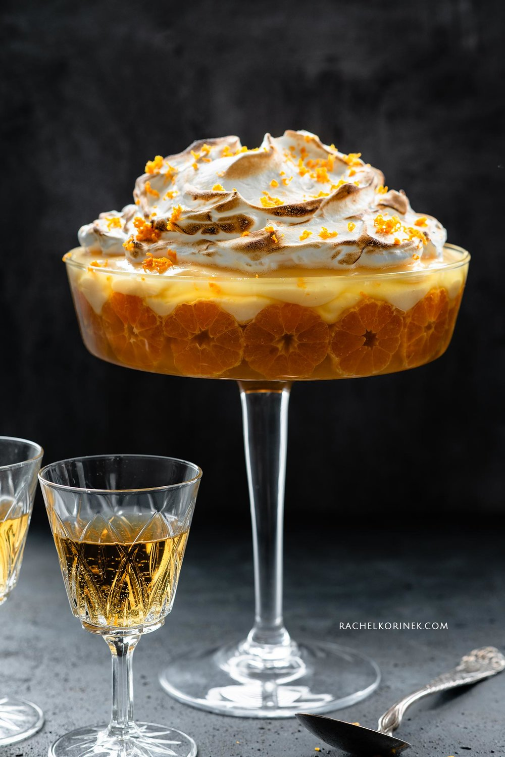 Rachel Korinek | Food Photographer Winter Clementine Trifle