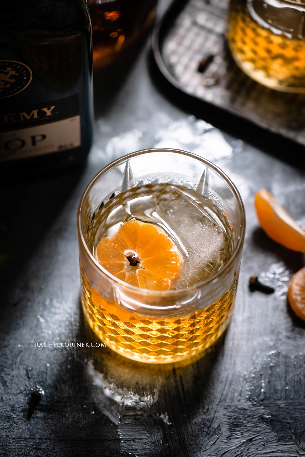 Rachel Korinek | Food Photographer Whiskey Sour with Satsuma Juice  Click to check out my latest food photography projects.  #twolovesstudio #beautifulcuisine #foodbloggerpro #foodphotography #learnfoodphotography #foodblogger #learnphotography #foodstyling #lightingtips #naturallight #foodphotographer