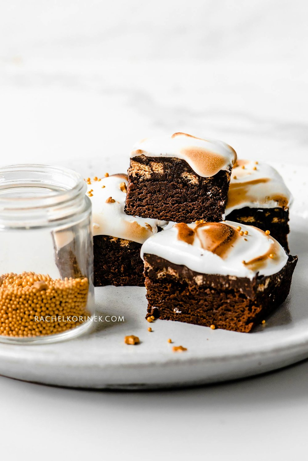 Rachel Korinek | Food Photographer Christmas S'mores Brownies