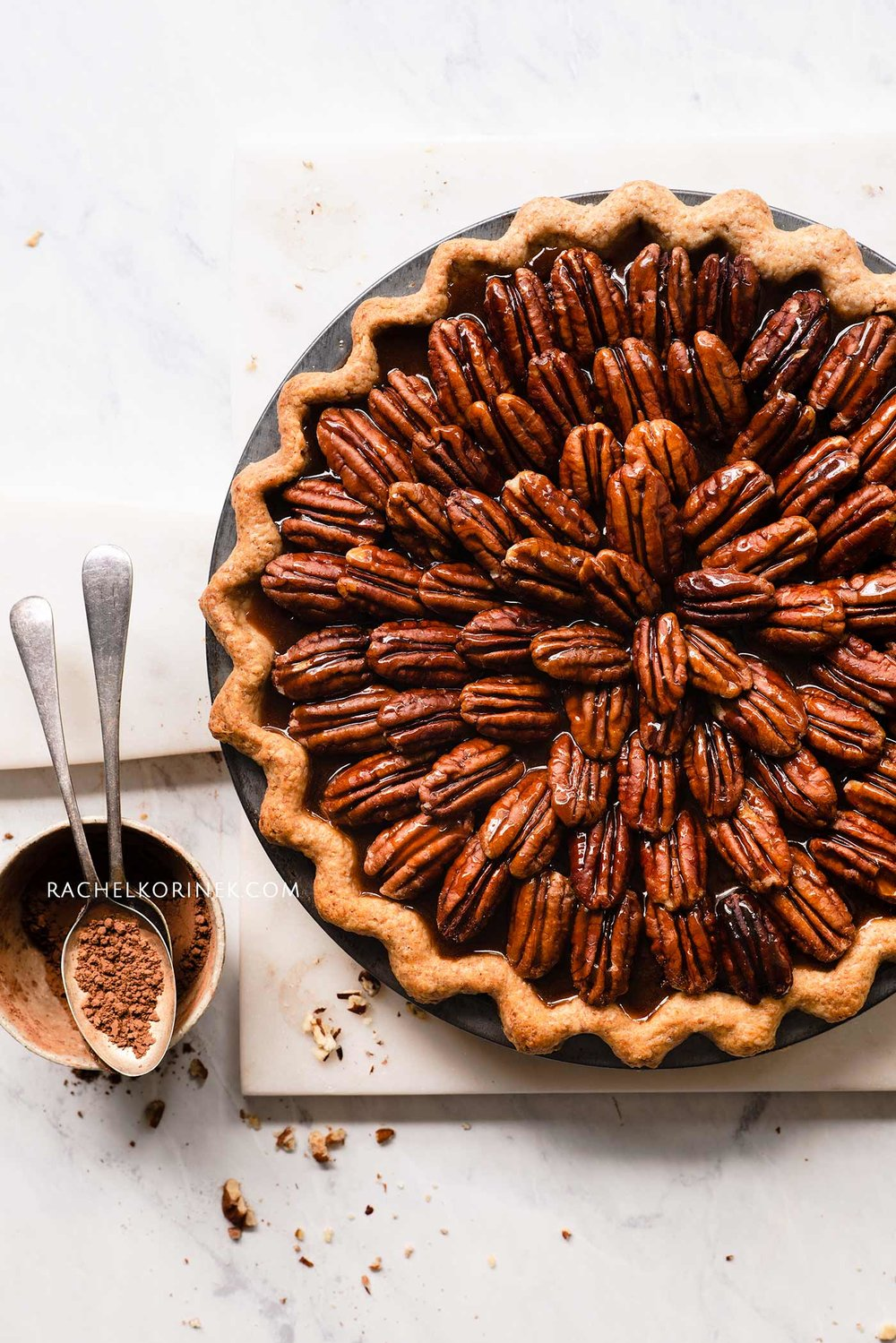 Rachel Korinek | Food Photographer Pecan Pie