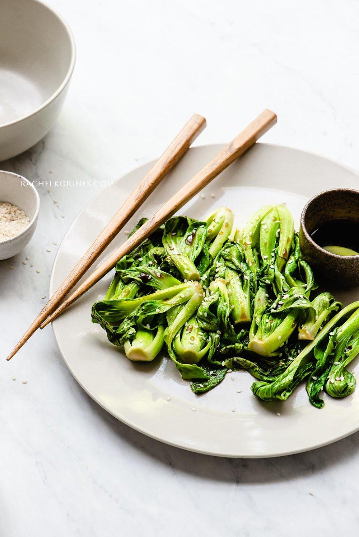 Rachel Korinek Food Photographer | Baby Bok Choy