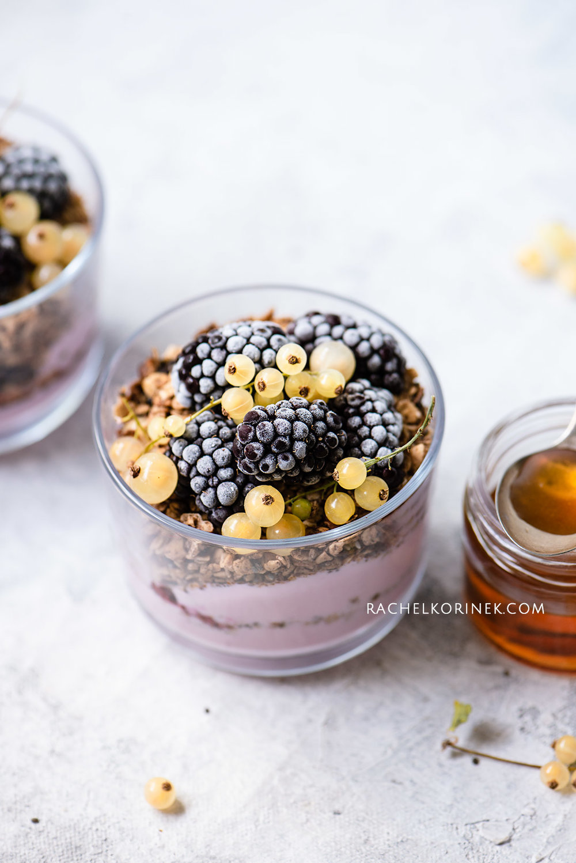 Rachel Korinek Food Photographer | Blackberry Granola Yoghurt