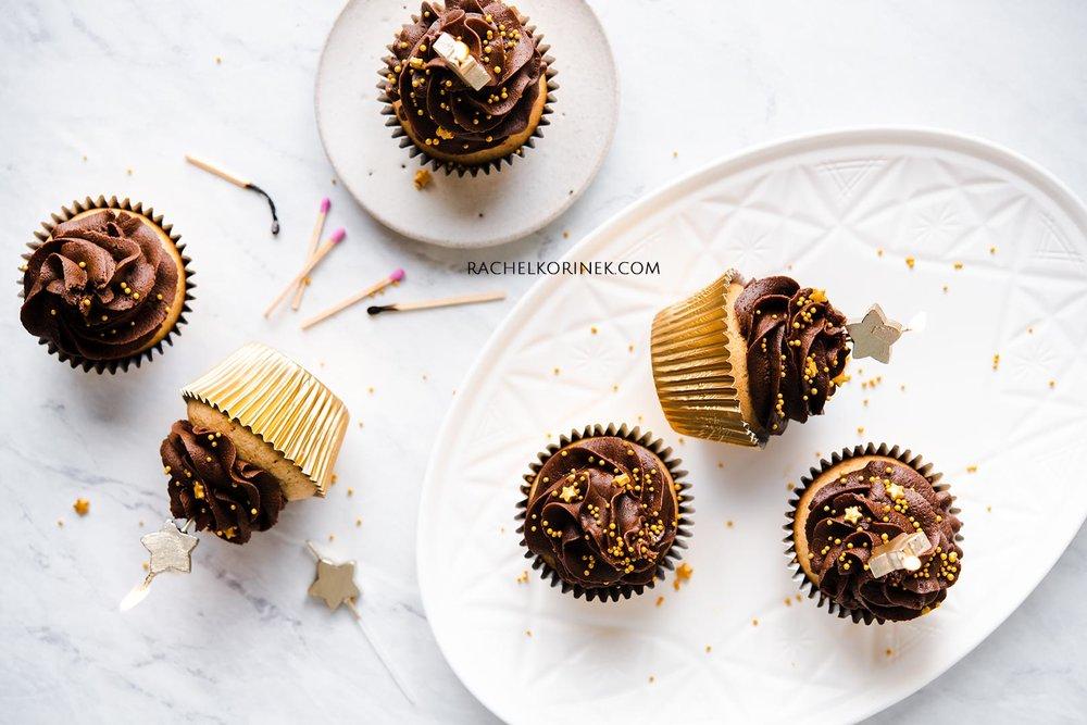 Rachel Korinek Food Photographer | Chocolate Cupcakes