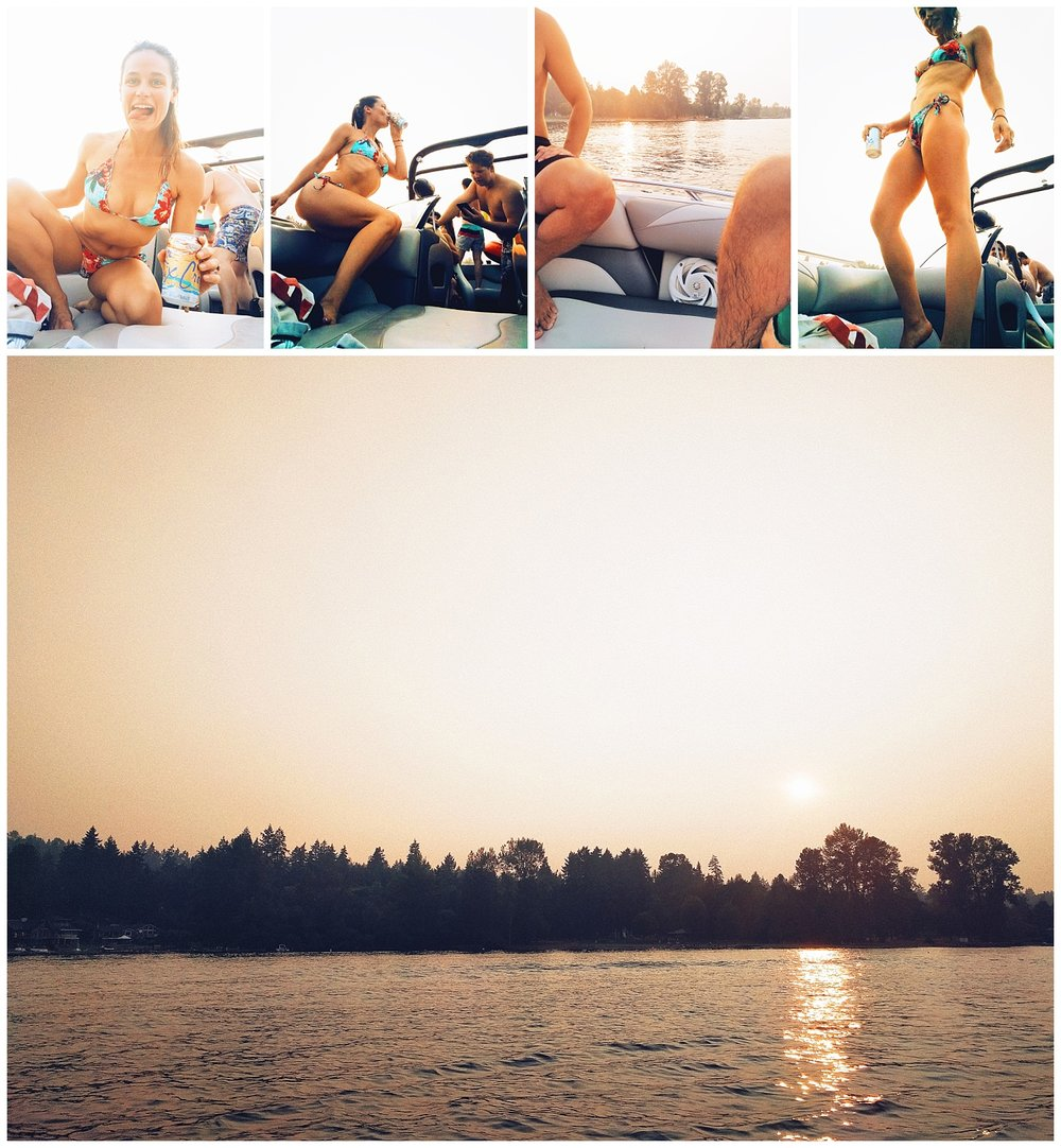 cha wilde on a boat - lake sammamish