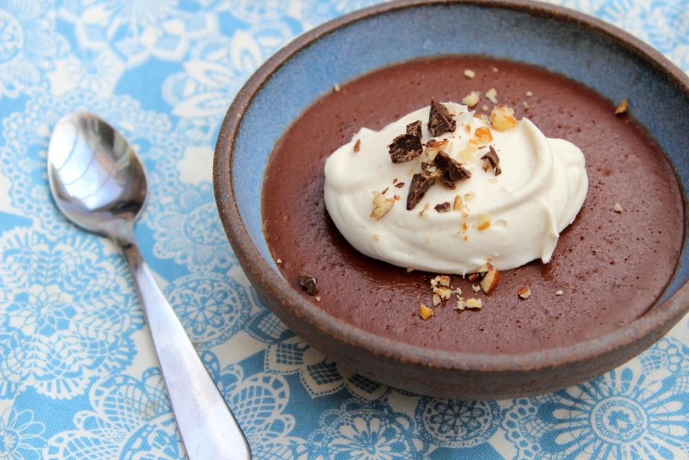 "Hazelnut, Bittersweet chocolat & fleur de sel ""pot de crème"" (V..."
