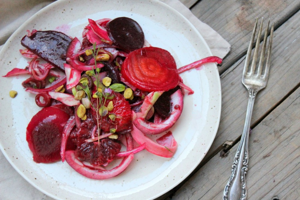 Fennel, blood orange, beet, mint and pistachio salad ...