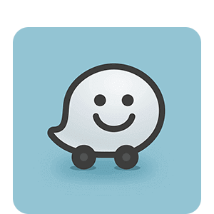 Drive there using Waze.