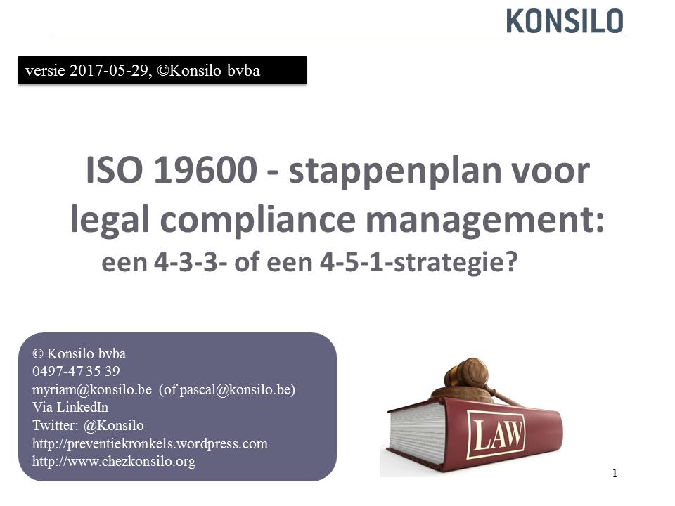 Stappenplan naar legal compliance.