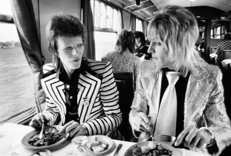 Bowie / Ronson, Lunch on Train to Aberdeen, 1973