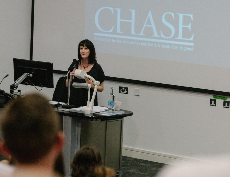 Professor Vicky Lebeau, CHASE DTP Director, welcomes delegates to the second Encounters conference.