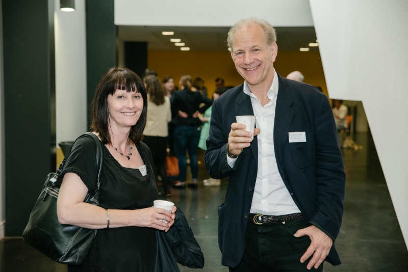 Professor Vicky Lebeau, CHASE DTP Director, with Professor Richard Fardon, CHASE Academic lead for SOAS.