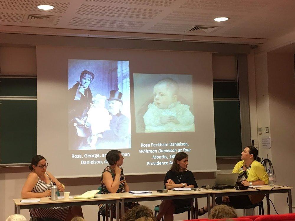 From left to right: Profs Hilary Emmett, Marlowe Daly-Galeano, Ariel Clark Silber, Amanda Burdan.