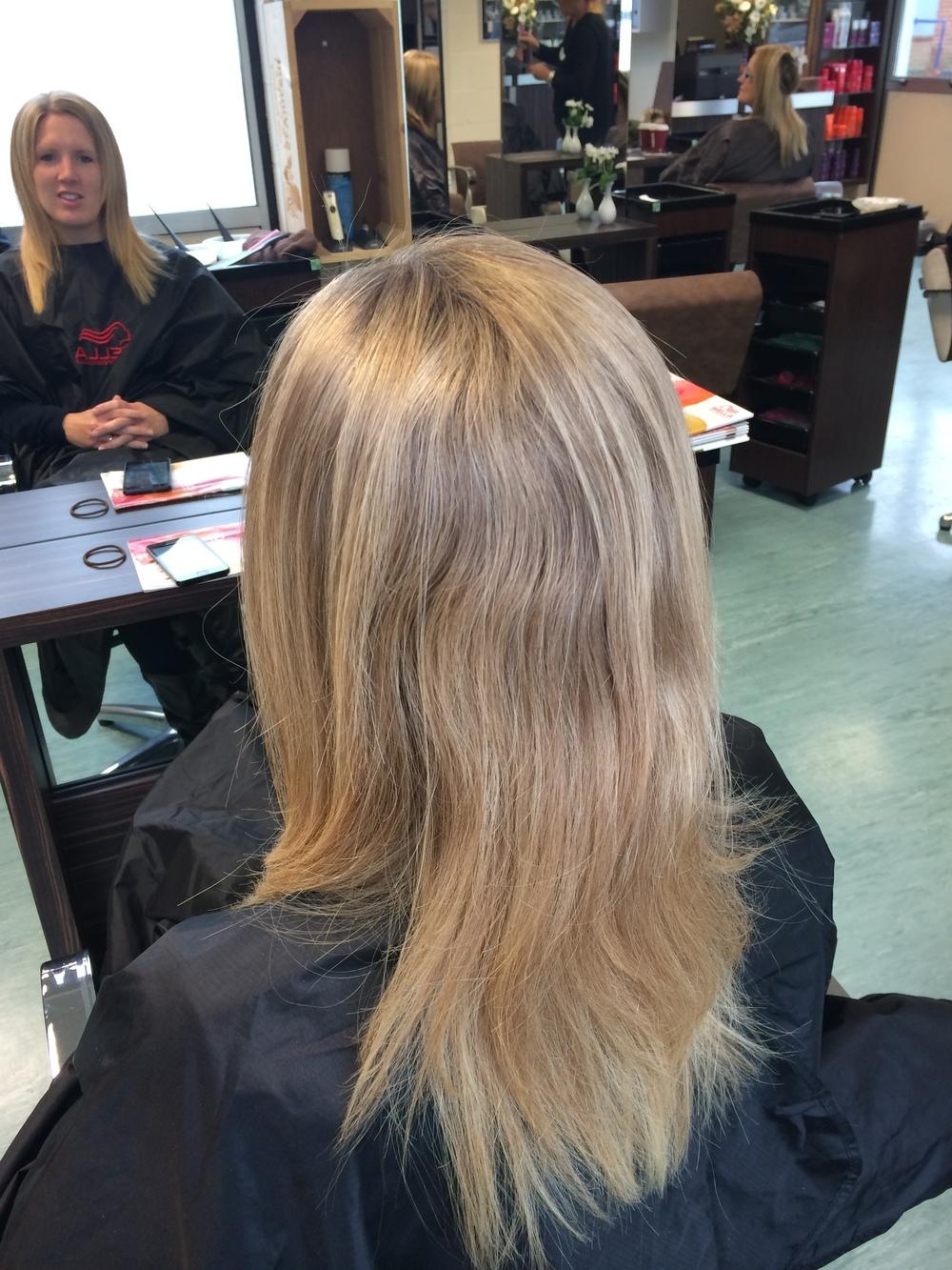 Sarah's hair before