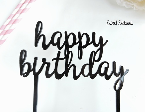 Happy Birthday Cake Topper N1