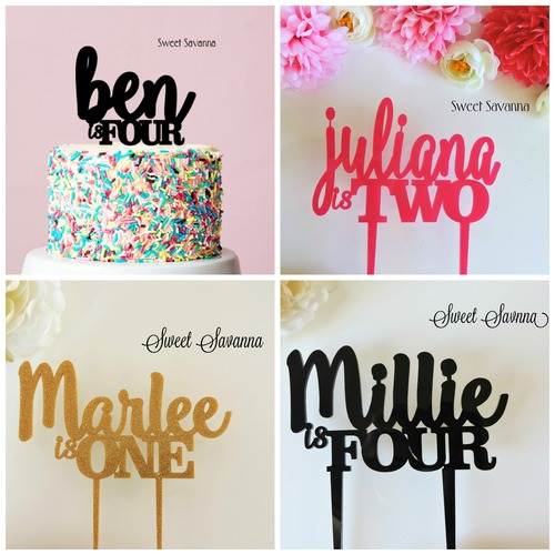 Birthday Cake Topper Collage