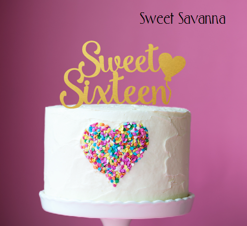 Sweet Sixteen Cake Topper N2