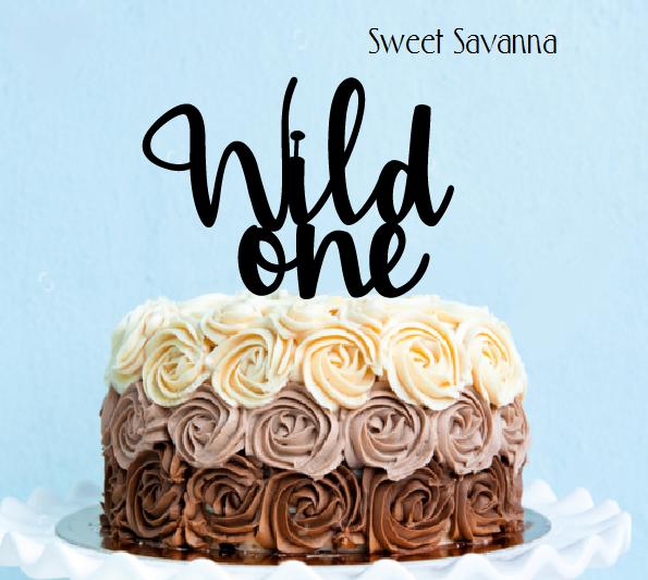 Wild One Cake Topper N2 Sweet Savanna Cookie Cutters