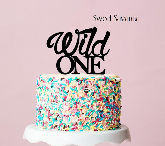 Wild One Cake Topper N3 Sweet Savanna Cookie Cutters