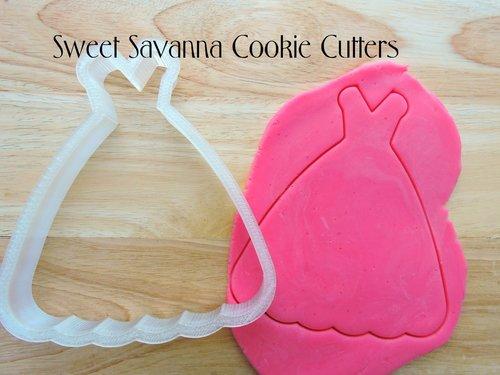 Dress Cookie Cutter No9 - Wedding Dress Cookie Cutter — Sweet ...