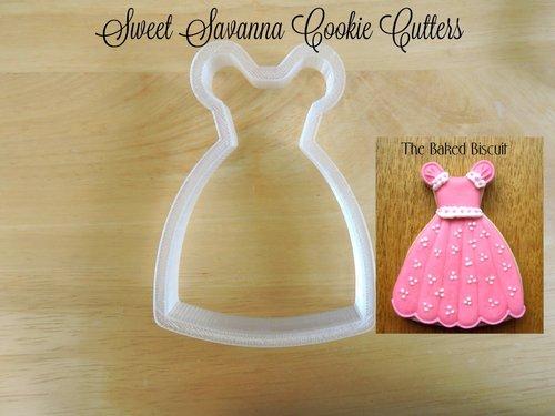Princess Dress Cookie Cutter n6- Girls Dress Cookie Cutter - Wedding ...
