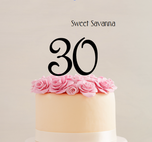 Fancy Number Cake Toppers