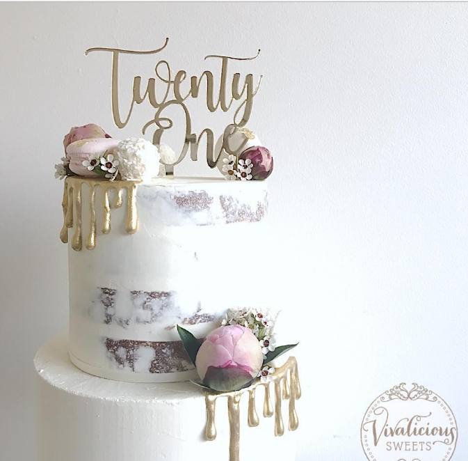 Twenty One Cake Topper N4 other numbers available Sweet