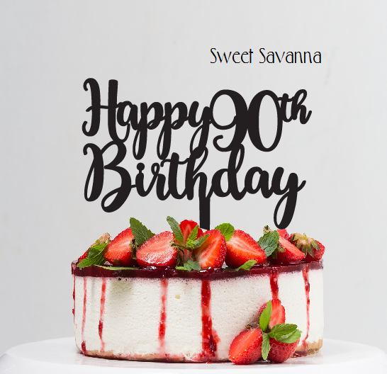 Happy Birthday Cake Topper Any number avialable Sweet Savanna