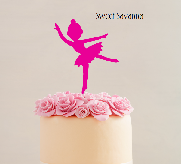 ballerina cake topper \u2014 sweet savanna cookie cuttersballerina cake topper png